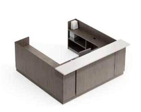 U Shaped Reception Desk Zira Contemporary U Shaped Reception Desk By Global Total Office