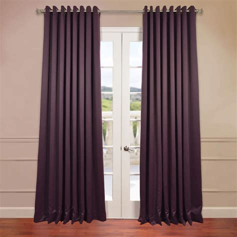 Blackout Curtains Grommet Half Price Drapes Aubergine Grommet Doublewide Blackout Curtain Boch 201301 Grdw Curtains For