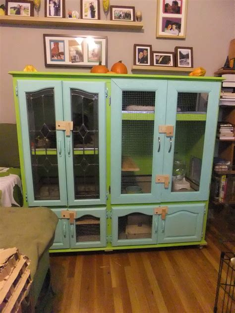cage furniture indoor diy bunny rabbit hutch made from furniture bunny stuff bunny