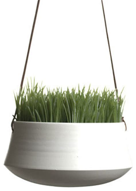 modern hanging planters hanging planter medium by ingleside pottery modern