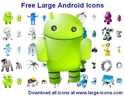 large android icons  screenshots