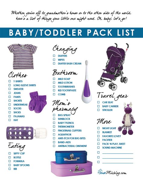 printable toddler packing list travel part 3 pack list outfits for baby and toddler