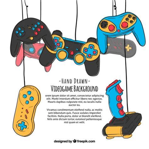 pattern games control unleashed fondo de videojuegos dibujado a mano descargar vectores