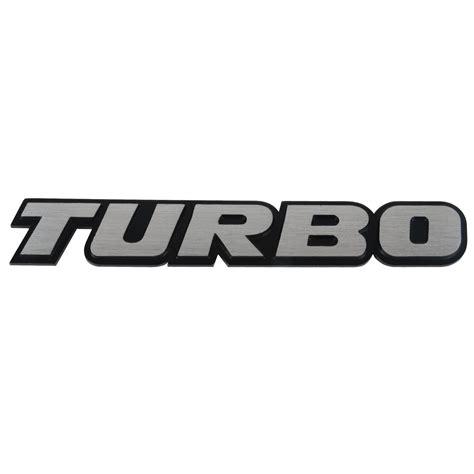 Klikoto Emblem Logo For Turbo car 3d quot turbo quot logo aluminium alloy metal emblem badge