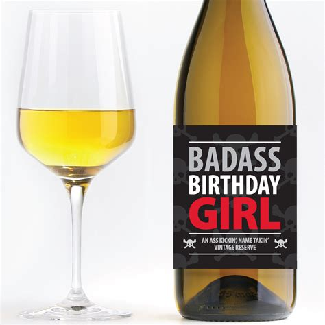 wine birthday badass birthday birthday wine label pdf in