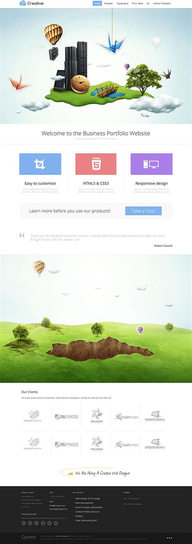 joomla parallax template free creative premium business portfolio joomla template with