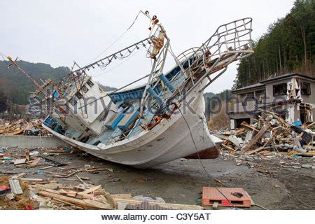 fishing boat washed ashore a fishing boat washed ashore during the tsunami otsuchi