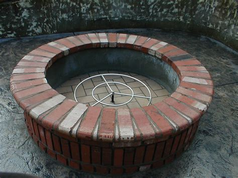 backyard brick fire pit outdoor fireplaces
