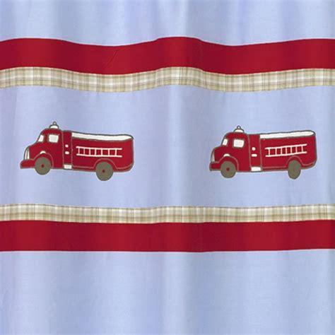 fire truck shower curtain fire truck dog fireman blue boys bath fabric shower