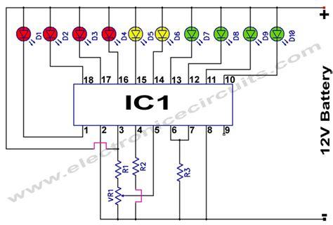 led temperature indicator circuit lm3914 lm3914 12v battery monitor circuit circuit diagram world