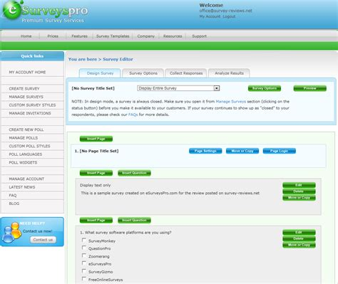 Web Based Survey - esurveyspro com survey software review web based survey software