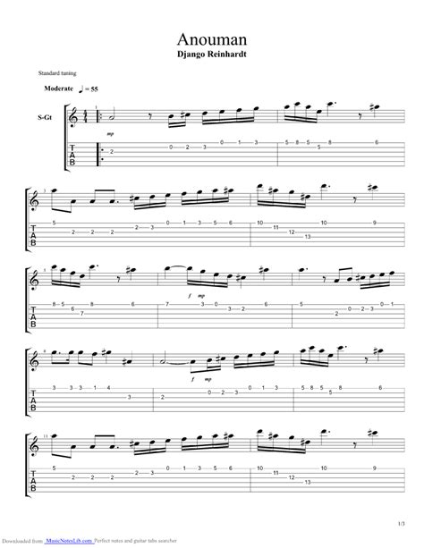 minor swing chords anouman guitar pro tab by django reinhardt musicnoteslib