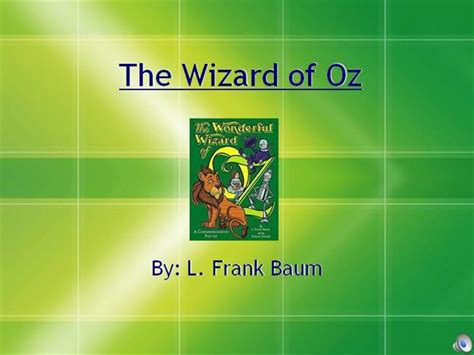 Wizard Of Oz Authorstream Wizard Of Oz Powerpoint Template