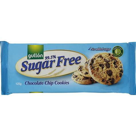Gullon Chip Choco Gluten Free Cookies Cokelat Cookies Gluten Free gullon cookies sugar free choc chip 125g woolworths