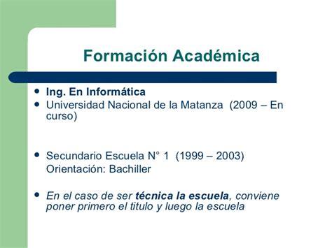 Modelo Curriculum Vitae Formacion Academica Como Armar Mi Curriculum Vitae