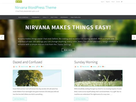 wordpress theme free download with slider 2014 the new nirvana theme is now available for download