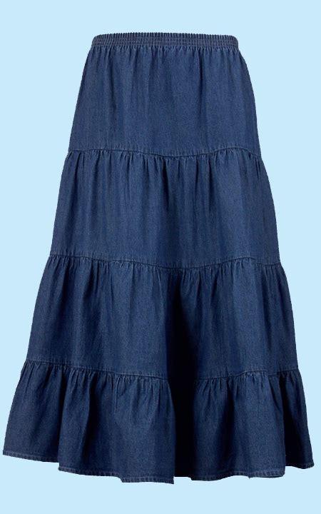 health pride tiered denim skirt