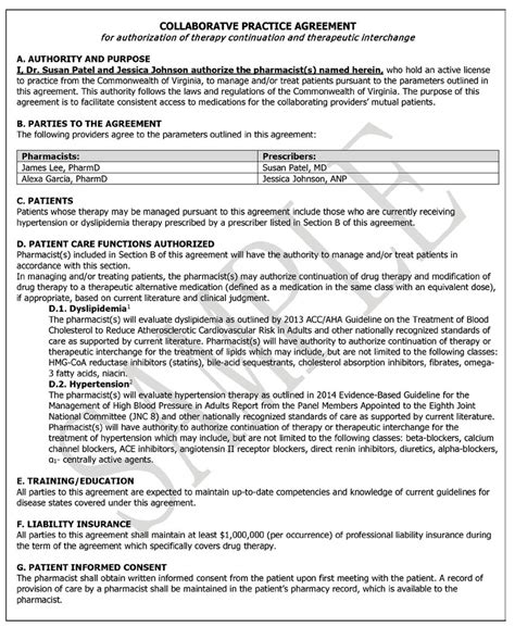 research collaboration agreement template sle collaborative practice agreement for hypertension
