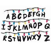 Sticker Mural Stranger Things Alphabet  WebStickersMurauxcom