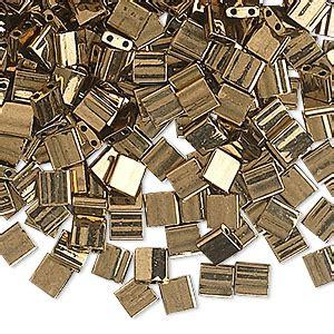 Miyuki Tila Tl457 bead miyuki tila 174 glass opaque metallic bronze tl457 5mm square with 2 0 8mm