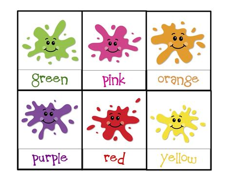 toddler color learning printables learning colors