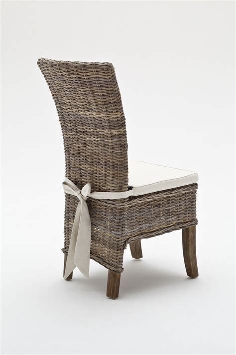 belgravia wing back rattan dining chairs with cushion 2