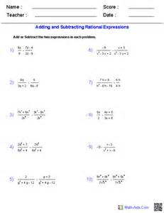 algebra 2 worksheets rational expressions worksheets