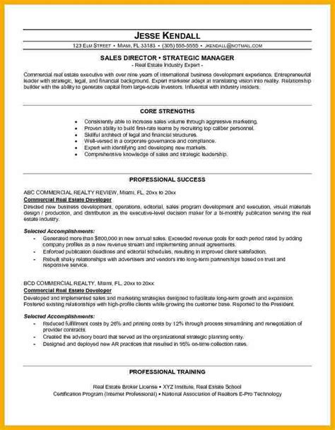 Resume Sle Of Real Estate 4 Real Estate Resume Bursary Cover Letter