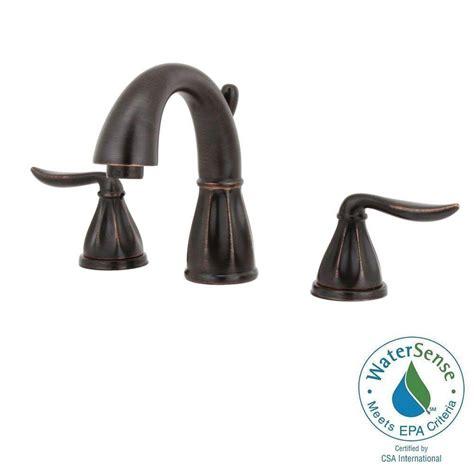 Tuscan Bronze Bathroom Faucet by Pfister Sedona 8 In Widespread 2 Handle High Arc Bathroom