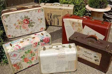 How To Decoupage A Suitcase - decoupage suitcases suitcase display