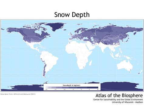 snow map world snow and maps on