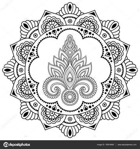 henna tattoo prijs een circulaire patroon in de vorm een mandala henna