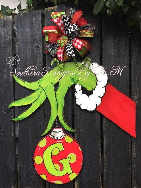 whoville decorations online the grinch door hanger grinch wooden door hanger decor etsy shop the grinch