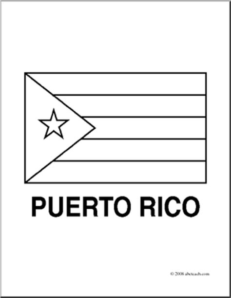 clip art flags puerto rico coloring page abcteach