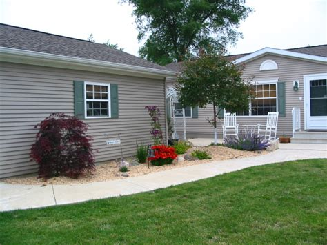 backyard mobile home landscaping ideas for mobile homes mobile manufactured