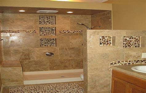 pebble tile bathroom ideas information