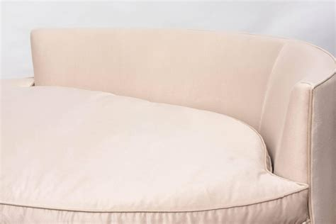 oval shaped sofa oval shaped recamier chaise at 1stdibs