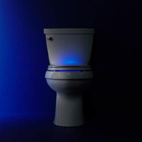 Lighted Toilet by Lighted Elongated Toilet Seat White Illuminated Led Kohler Cachet Nightlight Ebay