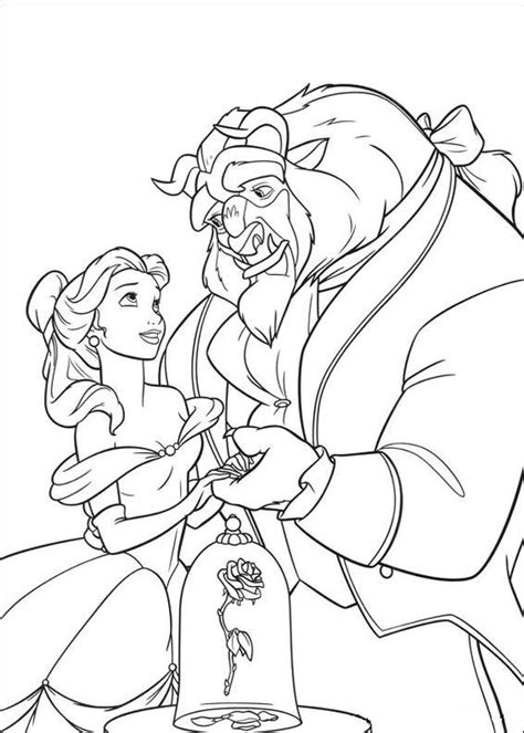 beauty and the beast coloring pages rose coloring pages the beast and beauty and the beast on
