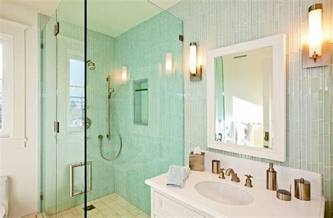 sea glass bathroom ideas sea glass shower tile tile design ideas