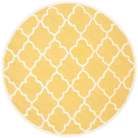 6ft circular rugs safavieh cambridge gold ivory 6 ft x 6 ft area rug cam312q 6r the home depot