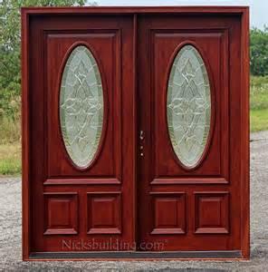 Mahogany Front Door With Glass Front Door Custom Single With 2 Sidelites Solid Wood Mahogany Exterior Doors 6 Lite Arch Top