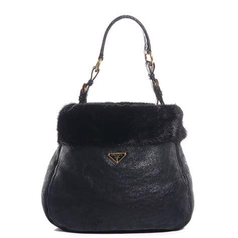 Prada And Marmot Fur Messenger Bag by Prada Prada Shearling Tote Prada Cross Messenger Bag