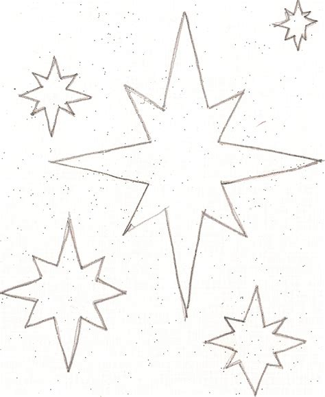 5 best images of little stars printable small star cut