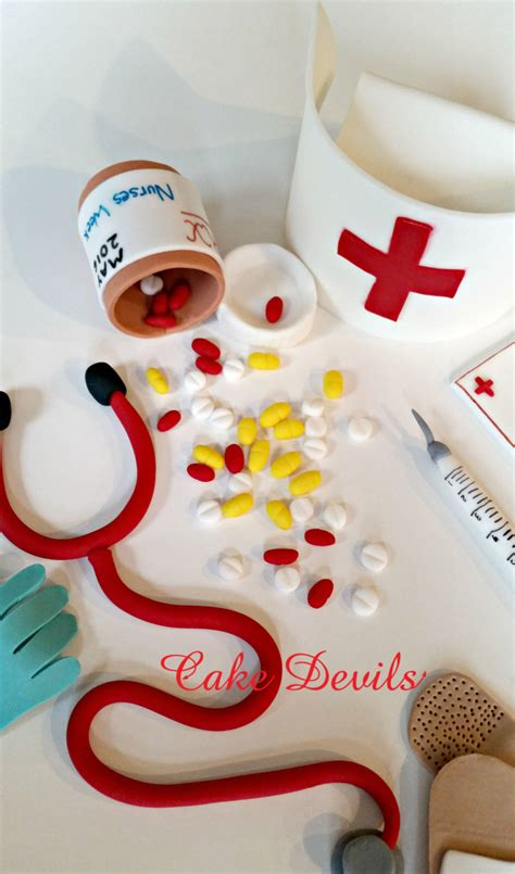 stethocope pill bottle cake topper kit