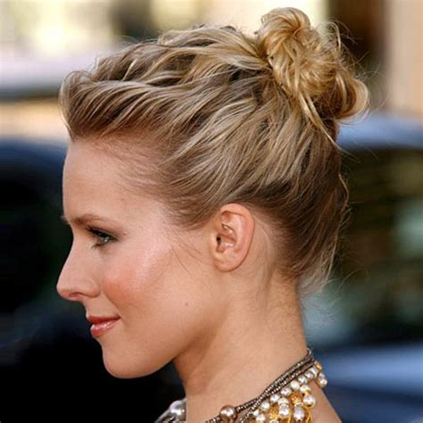 casual chignon updo hairstyle for women kylie minogue hairstyle 18 stylish easy updo for short hairs 2015 london beep