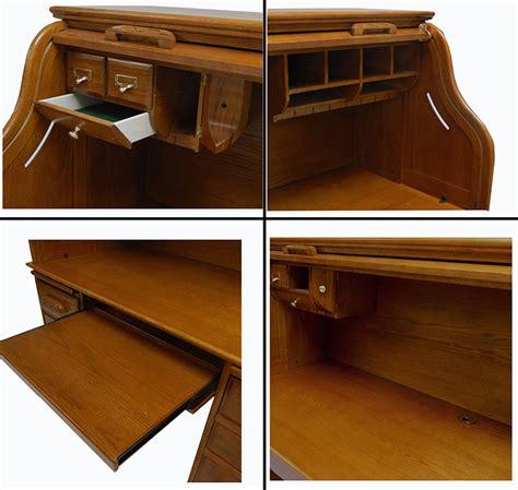 Oak Roll Top Computer Desk Oak Roll Top Computer Desk In Stock