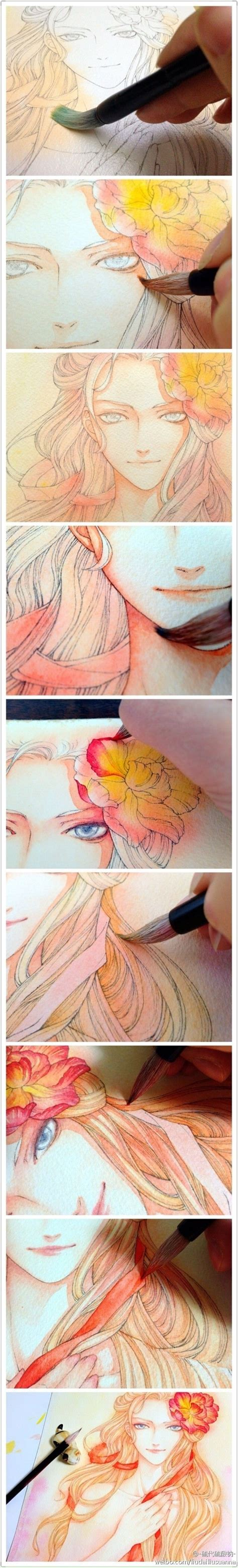 tutorial watercolor anime 1000 images about drawing on pinterest chibi how to