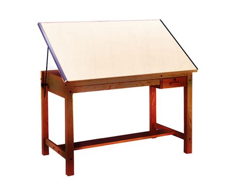 Mayline Ranger Drafting Table With 2 Drawers Golden Oak Mayline Oak Drafting Table