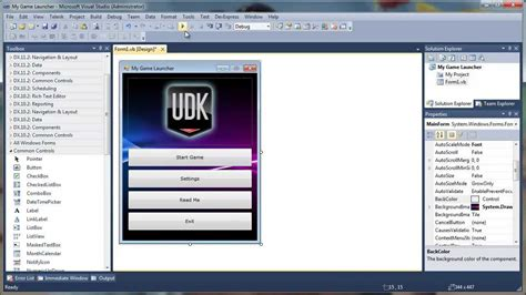 how to create a how to create standalone game launcher for udk games part i designing youtube